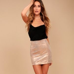Free People Modern Femme rose gold skirt sz 4